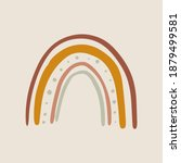 isolated bohemian rainbow naive ... | Shutterstock .eps vector #1879499581