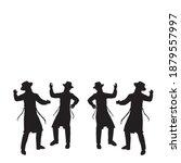 4 jewish followers dancing....   Shutterstock .eps vector #1879557997