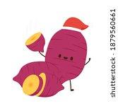 sweet potato character design.... | Shutterstock .eps vector #1879560661