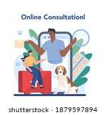 pet veterinarian online service ... | Shutterstock .eps vector #1879597894
