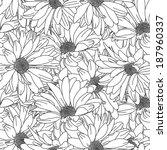 flower pattern seamless  eps 10   Shutterstock .eps vector #187960337