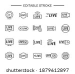 set of live streaming icons.... | Shutterstock .eps vector #1879612897