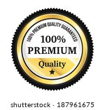 golden premium quality badge   Shutterstock .eps vector #187961675