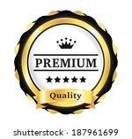 golden premium quality badge   Shutterstock .eps vector #187961699