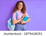 young beautiful school girl... | Shutterstock . vector #1879618291