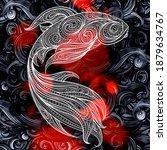 decorative beautiful fish in... | Shutterstock . vector #1879634767