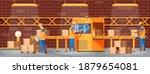 conveyor belt machine concept...   Shutterstock .eps vector #1879654081