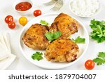Roasted Chicken Thighs In White ...