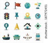 map and location navigator icons | Shutterstock .eps vector #187972451