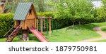 Small Wood Log Playhouse Hut...