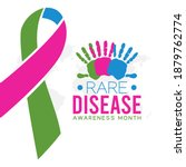 vector graphic of rare disease... | Shutterstock .eps vector #1879762774