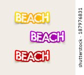 realistic design element  beach | Shutterstock . vector #187976831