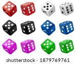 Set Of Casino Dice Vector...