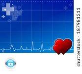 electrocariogram background | Shutterstock .eps vector #187981211
