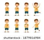 funny kid boy emotion... | Shutterstock .eps vector #1879816984