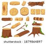 woodworking industry set.... | Shutterstock .eps vector #1879864897