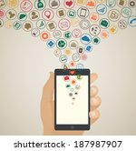 mobile app development concept  ... | Shutterstock .eps vector #187987907