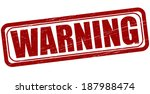 stamp with word warning inside... | Shutterstock .eps vector #187988474