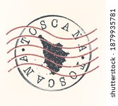 tuscany  italy stamp postal.... | Shutterstock .eps vector #1879935781