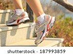 sports legs running climbing on ... | Shutterstock . vector #187993859