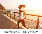 healthy lifestyle sports woman...   Shutterstock . vector #187994189