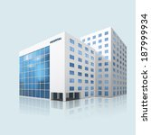 city hospital building with... | Shutterstock .eps vector #187999934