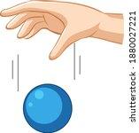 hand dropping blue ball for... | Shutterstock .eps vector #1880027221