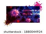 coronavirus mutation headline.... | Shutterstock .eps vector #1880044924