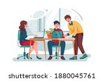 business people working...   Shutterstock .eps vector #1880045761
