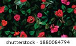 wide vintage floral seamless... | Shutterstock .eps vector #1880084794