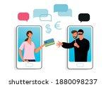 conceptual illustration of... | Shutterstock .eps vector #1880098237