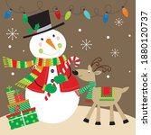 Christmas Snowman And Reindeer...
