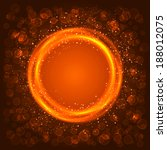 abstract orange circle... | Shutterstock .eps vector #188012075