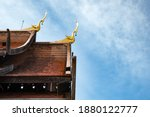 Roof Of The Buddhist Temple In...