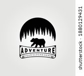 bear logo  grizzly bear ... | Shutterstock .eps vector #1880129431
