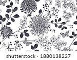 cute autumn seamless pattern....   Shutterstock .eps vector #1880138227