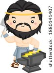 a vector of the greek god... | Shutterstock .eps vector #1880141407