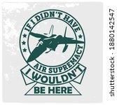 american air force vector... | Shutterstock .eps vector #1880142547