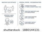 set of coronavirus covid19... | Shutterstock . vector #1880144131