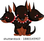 a vector of cerberus the... | Shutterstock .eps vector #1880145907