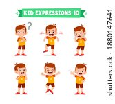 cute little kid boy in various...   Shutterstock .eps vector #1880147641