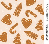 christmas seamless pattern with ... | Shutterstock .eps vector #1880149777