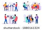 set of illustrations on the... | Shutterstock .eps vector #1880161324