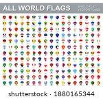all world flags   vector set of ... | Shutterstock .eps vector #1880165344