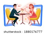online dating. couple in love... | Shutterstock .eps vector #1880176777