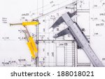 architect project drawing...   Shutterstock . vector #188018021