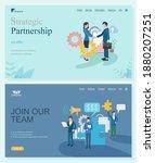 strategic partnership and join... | Shutterstock .eps vector #1880207251