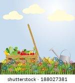 abundant harvest. vector...   Shutterstock .eps vector #188027381