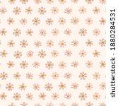daisy floral pattern in cream... | Shutterstock .eps vector #1880284531