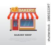 vector illustration of a bakery ... | Shutterstock .eps vector #1880322397